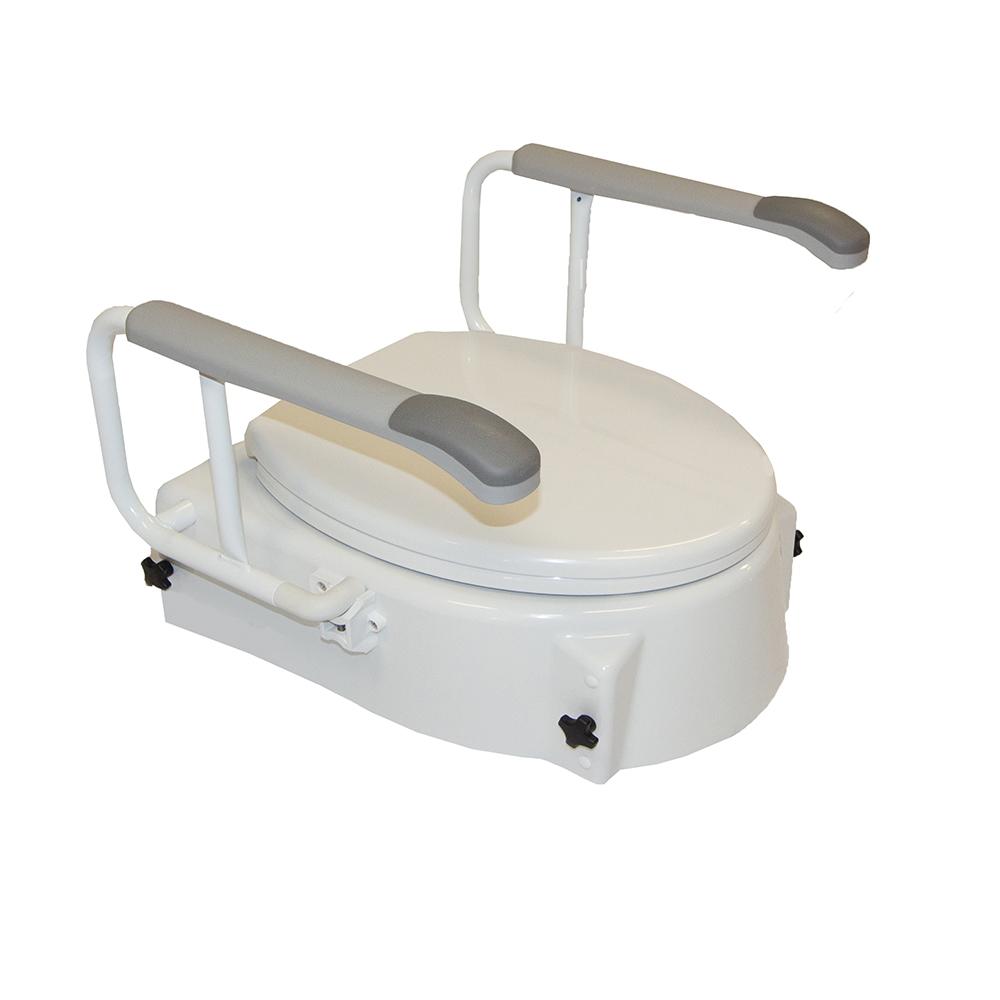 Toiletverhoger <br>met armleuning